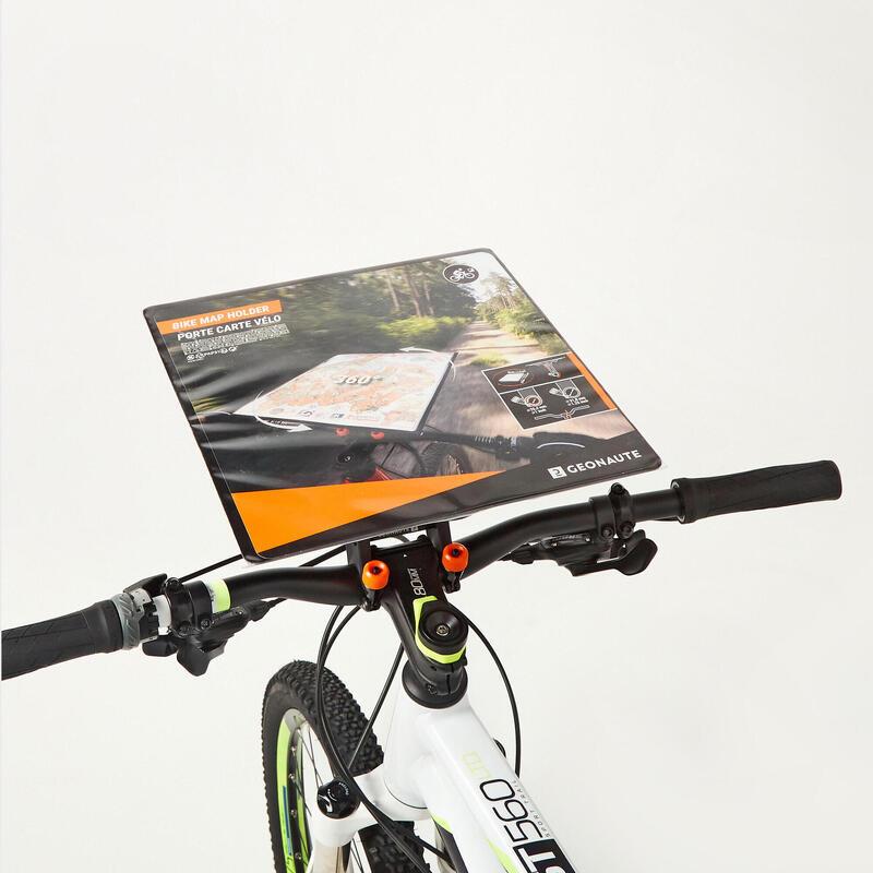Richtbare kaarthouder voor mountainbike voor oriëntatielopen en multisportraids