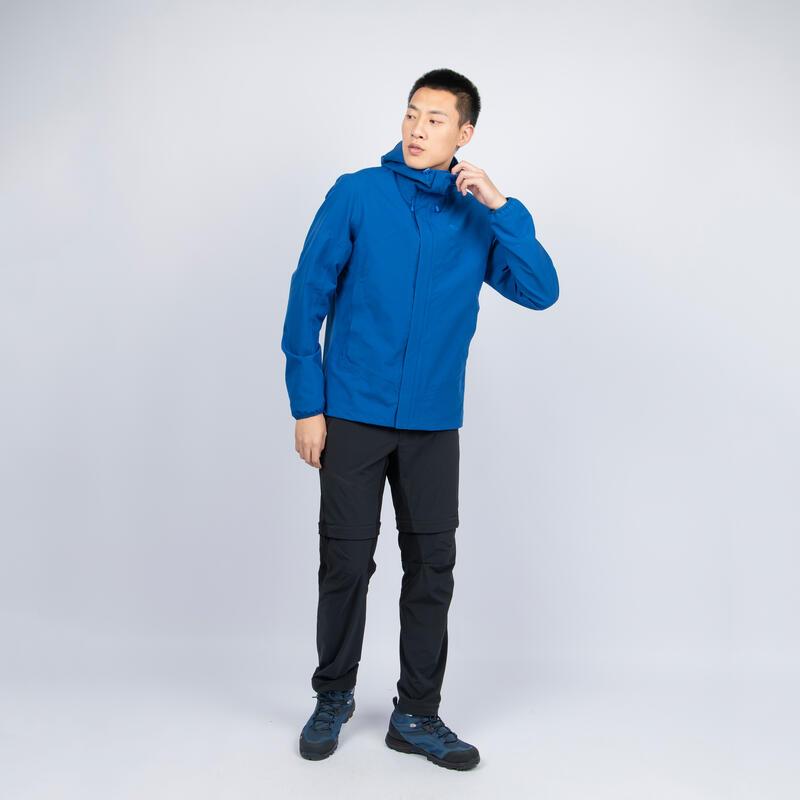 เสื้อแจ็คเก็ตกันน้ำผู้ชายสำหรับใส่เดินป่าบนภูเขารุ่น MH150