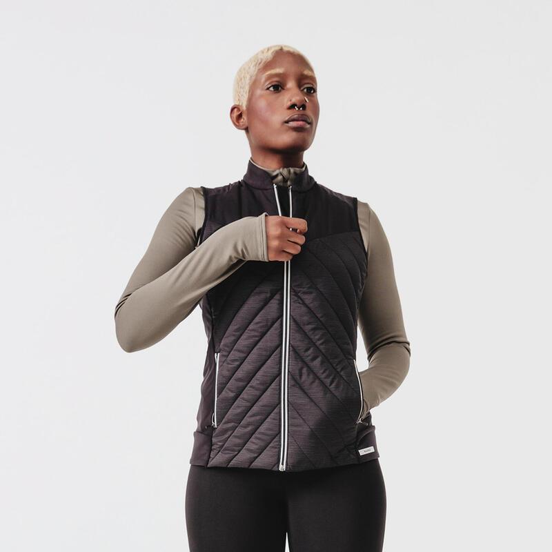 Run Warm Women's Running Sleeveless Jacket - black