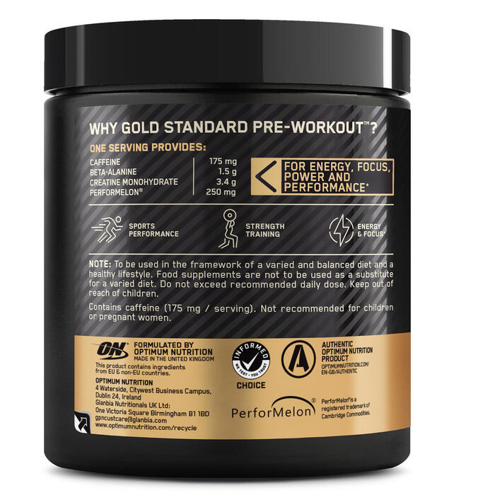 PRE WORKOUT GOLD STANDARD fruit punch 330gr