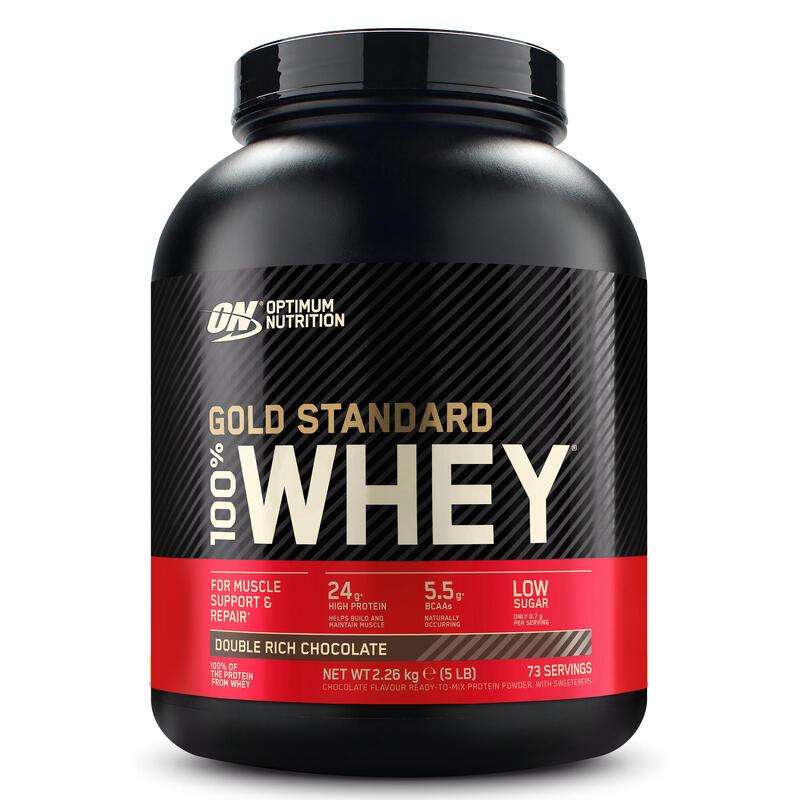 Proteína whey Gold Standard 24,2 G SUERO DE LECHE SABOR DOBLE Chocolate 2,2 Kg