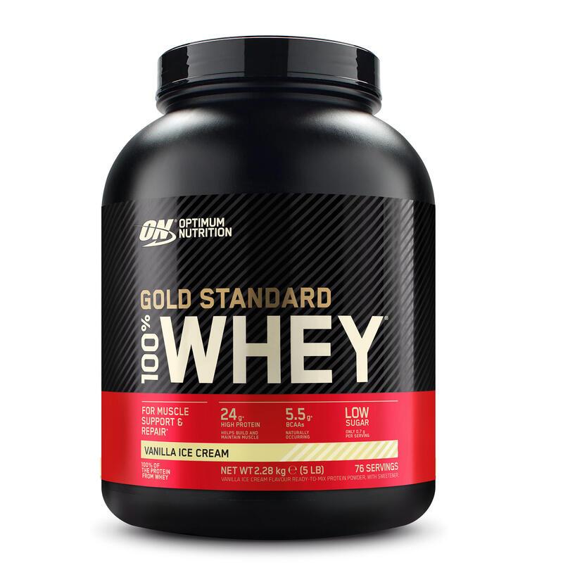 PROTEINA whey Gold Standard 24,2 g suero de leche Sabor vainilla 2,2 kg
