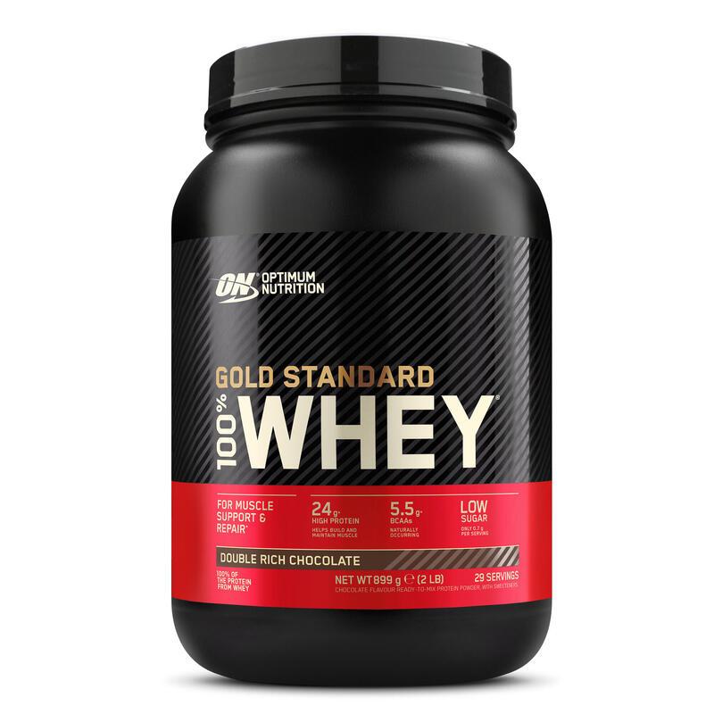 Eiwitten Gold Whey Standaard double rich chocolat 908 g