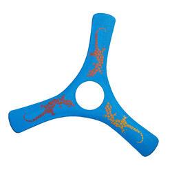 Boemerang met 3 bladen Fun Spinracer rechtshandig hard plastic blauw