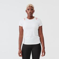 女款跑步T恤RUN DRY + - 白色