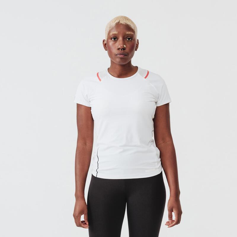 RUN DRY + WOMEN'S RUNNING T-SHIRT - WHITE