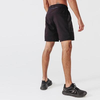 Pantaloneta Corta para correr Hombre Run Dry + Negro