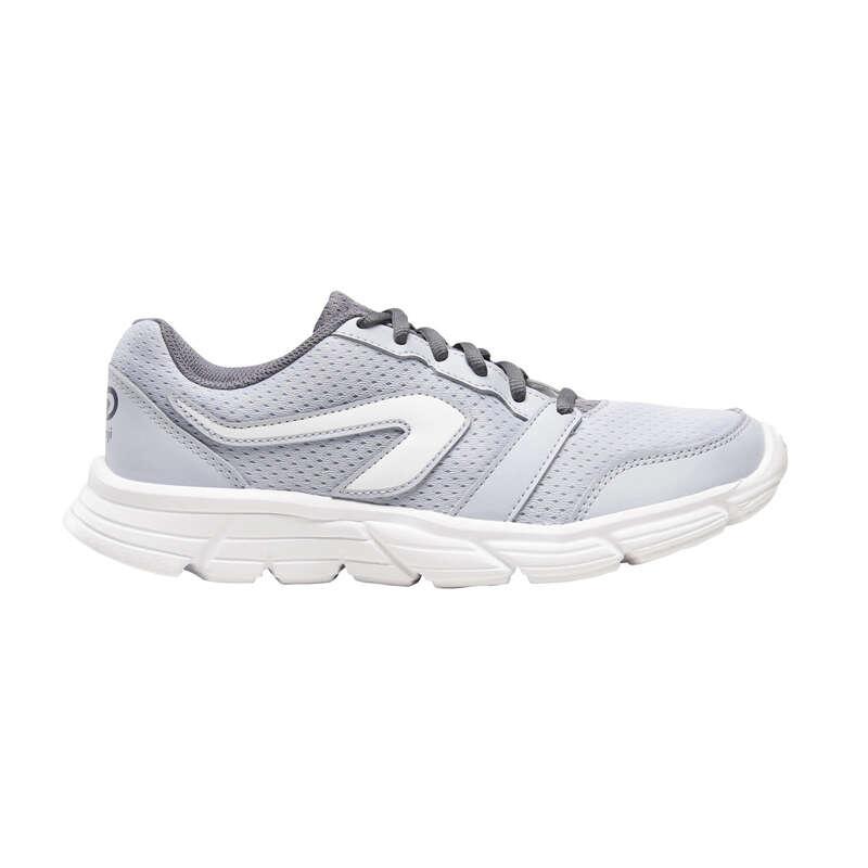 ДАМСКИ ОБУВКИ ДЖОГИНГ НЕИНТЕНЗИВНО 1000 продукта до 25лв. - обувки за бягане 100, сиви KALENJI - Всички спортове