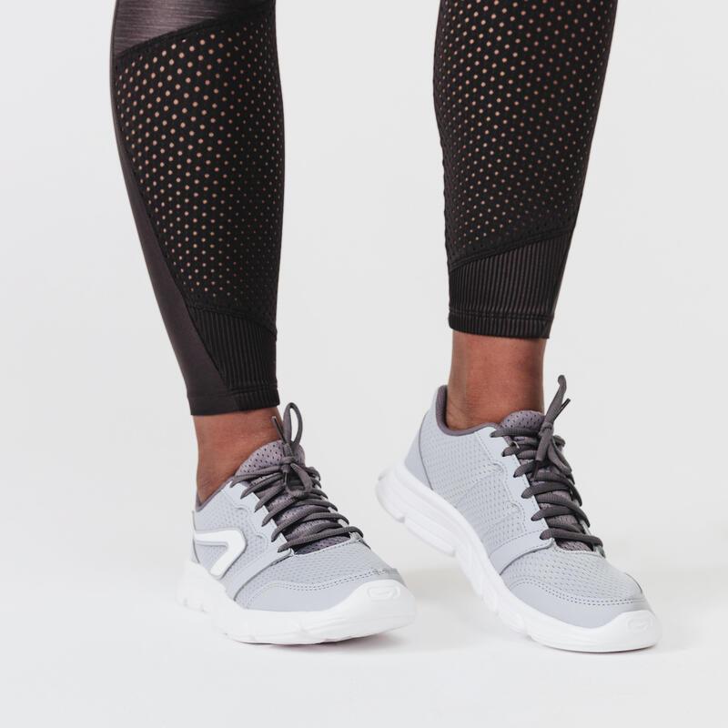 WOMEN'S RUNNING SHOES RUN 100 - GREY