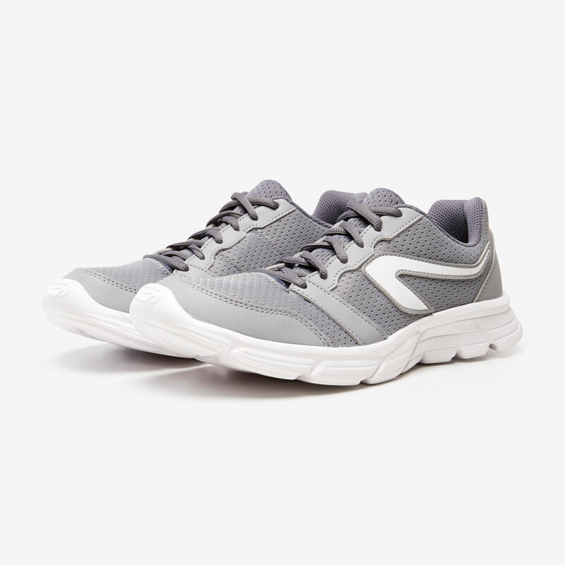 KALENJI RUN 100 MEN'S RUNNING SHOES - GREY