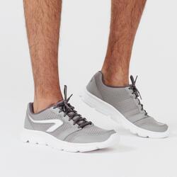 KALENJI RUN 100 MEN'S RUNNING SHOES - GREY
