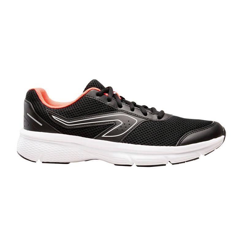 DÁMSKÉ BOTY NA JOGGING - PŘÍLEŽITOSTNÉ POUŽITÍ Běh - BOTY RUN CUSHION ČERNÉ  KALENJI - Běžecká obuv