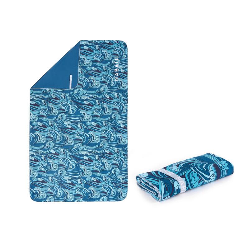 輕便微纖維毛巾L號80 x 130 cm 印花