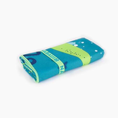 Compact Microfibre Swimming Towel Size L 80 x 130 cm - print