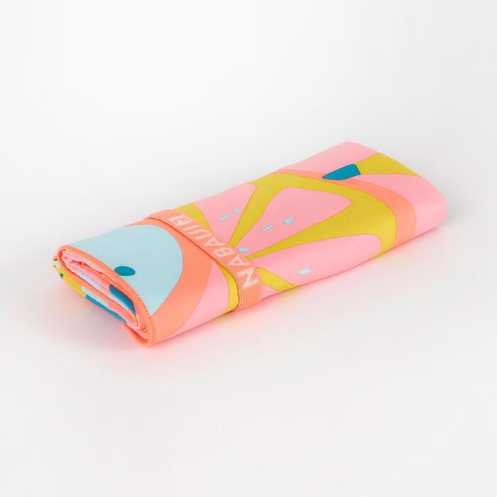 輕便印花微纖維毛巾L號80 x 130 cm