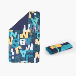 輕便印花微纖維游泳毛巾L號80 x 130 cm