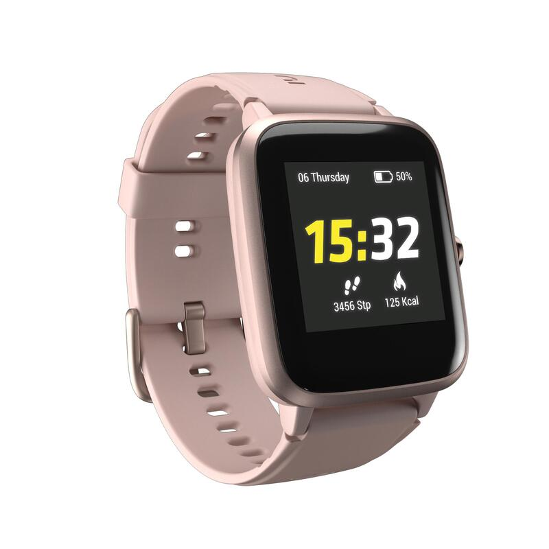 Běžecké hodinky s měřením tepové frekvence CW700 HR růžové