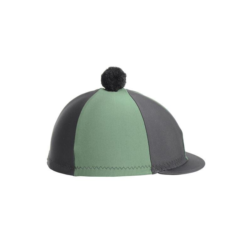 Hy pom pom hat silk black green