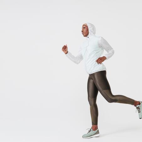 Women Jogging/ Running Windproof Jacket White - Kalenji