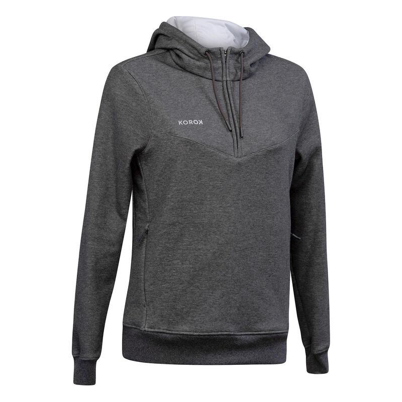 Sweat-shirt de hockey sur gazon femme FH500 gris