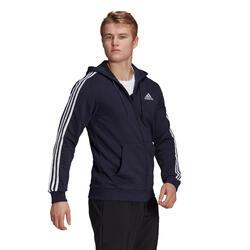 Sweatjacke Kapuze Fitness Essentials Herren marineblau