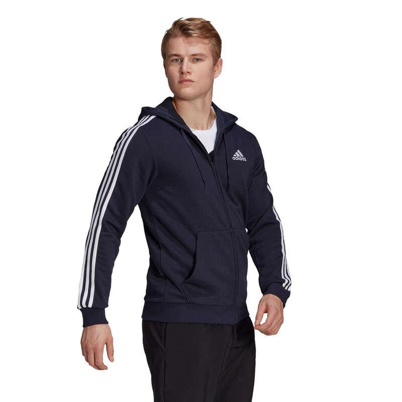 KLÄDER FÖR GYMNASTIK, PILATES KALL VÄDER Pilates - Huvjacka Adidas 3S FT Herr BLÅ ADIDAS - Pilates