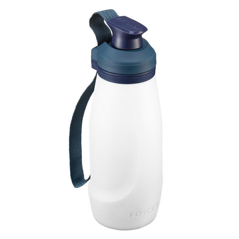 Filter water bottle for trekking, soft & compressible - TREK 500 Soft 1 L - Blk