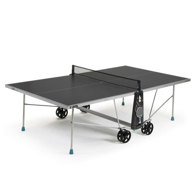 SZABADIDÖS ASZTALITENISZ-ASZTALOK Pingpong - Pingpongasztal 100 X Cross  CORNILLEAU - Pingpongasztalok, kiegészítők