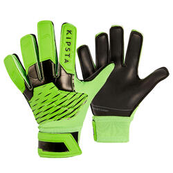 Gant de gardien de football enfant F100 RESIST vert noir
