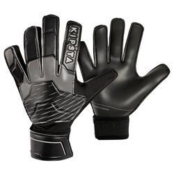 Gant de gardien de football adulte F100 RESIST noir gris
