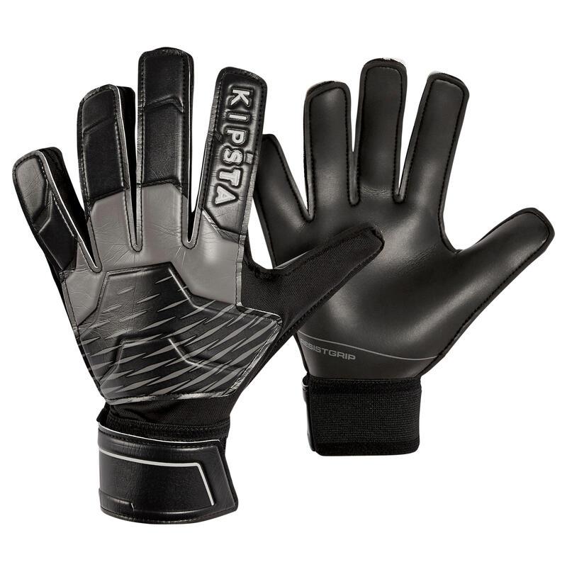 Fotbalové brankářské rukavice F100 Resist černo-šedé