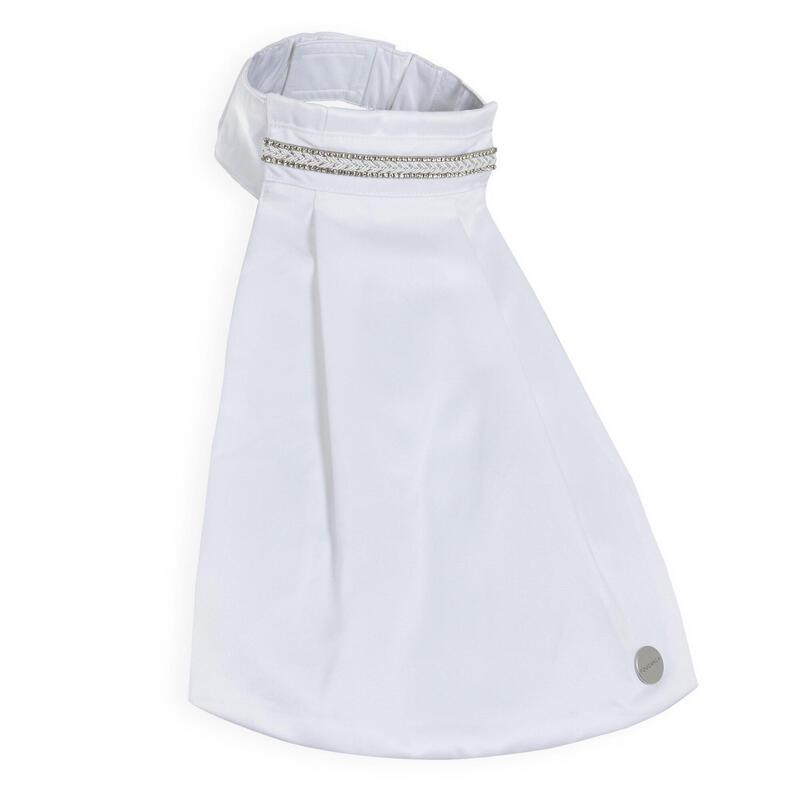Women's Dressage Tie - White Satin
