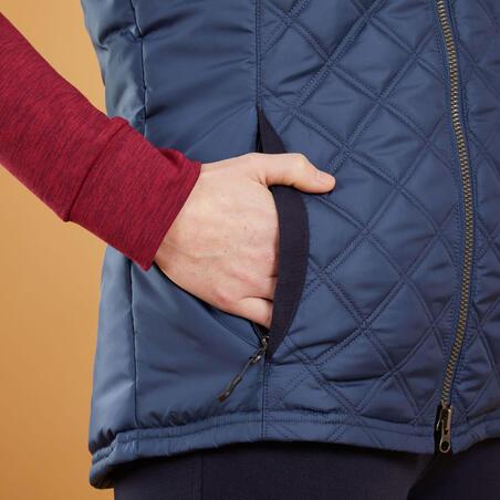 Veste d'équitation500 sans manches– Femmes