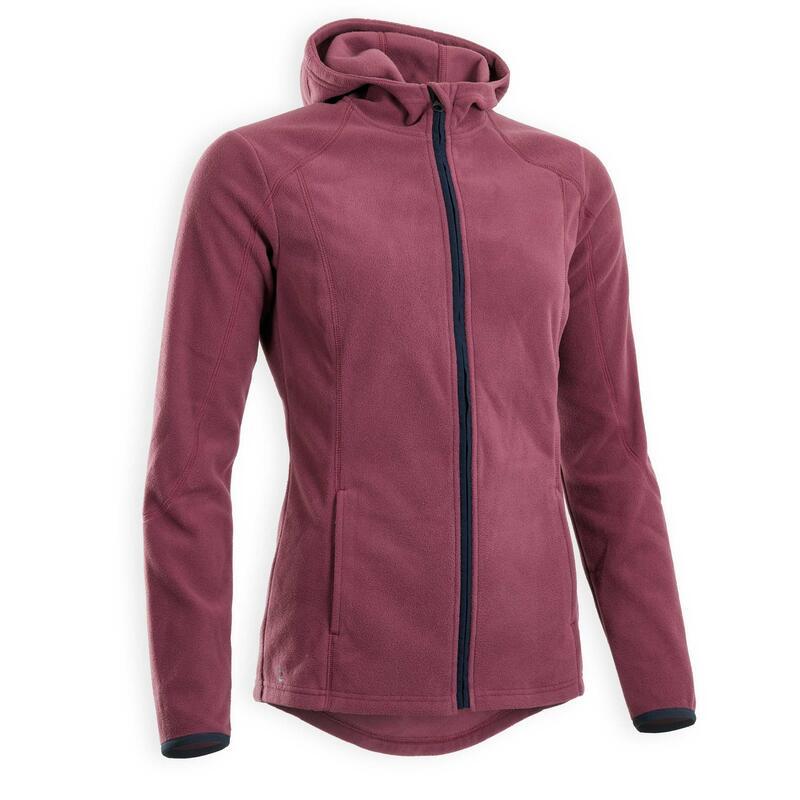 Polaire équitation femme à capuche 2en1 violet