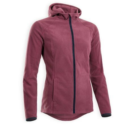 2-in-1 hooded fleece riding jacket - Women