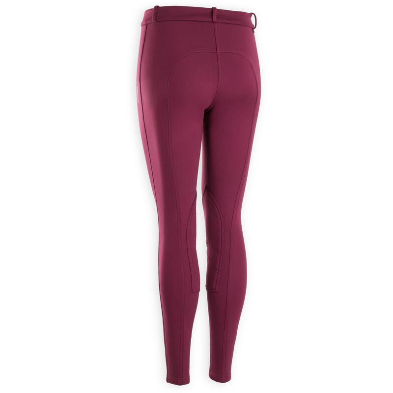 Pantalon équitation femme violet 100