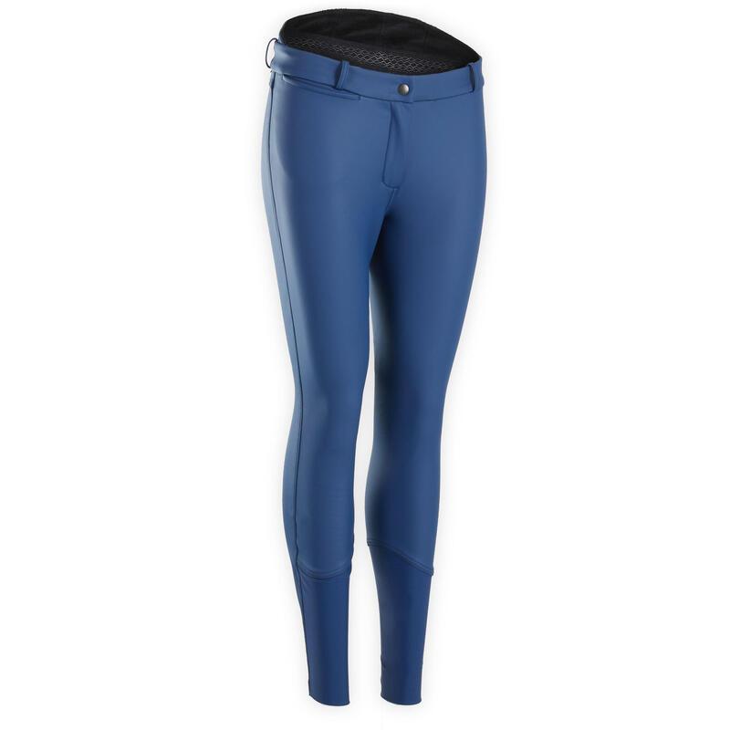 Pantalon équitation femme imperméable et chaud marine noir KIPWARM