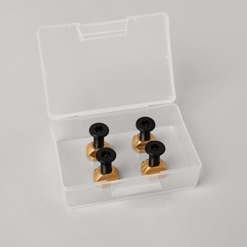 Kit fixation foil / platine - vis - écrou M8 / 25mm - 5 pièces Inox / laiton