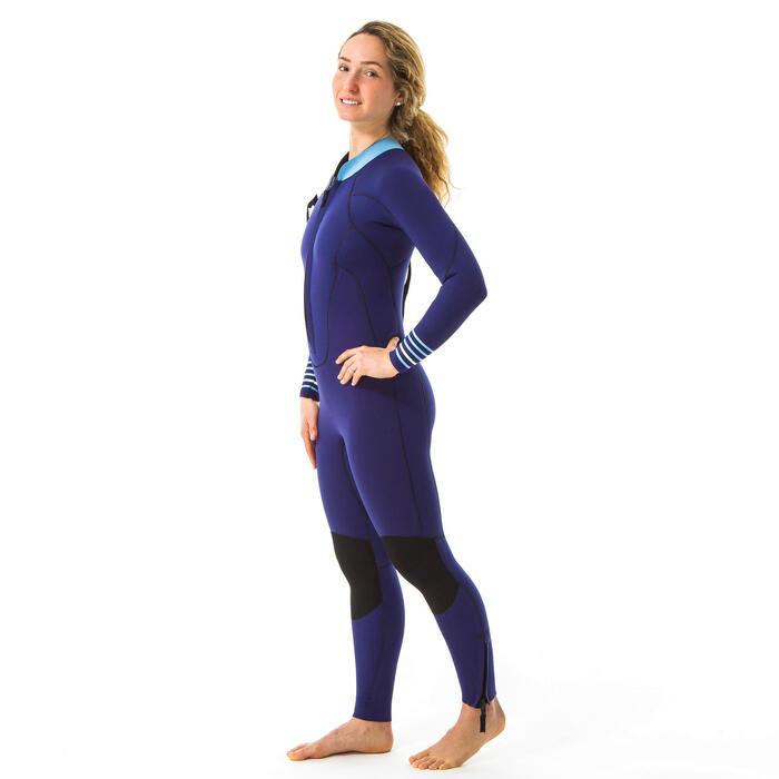 Combinaison longe côte néoprène 4/3 femme bleu