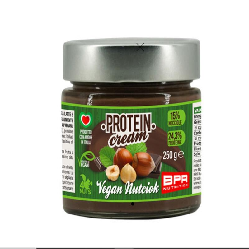 CREMA PROTEICA VEGANA BPR NUTCIOK 250G 24,3% PROTEINE COLAZIONE SPUNTINO