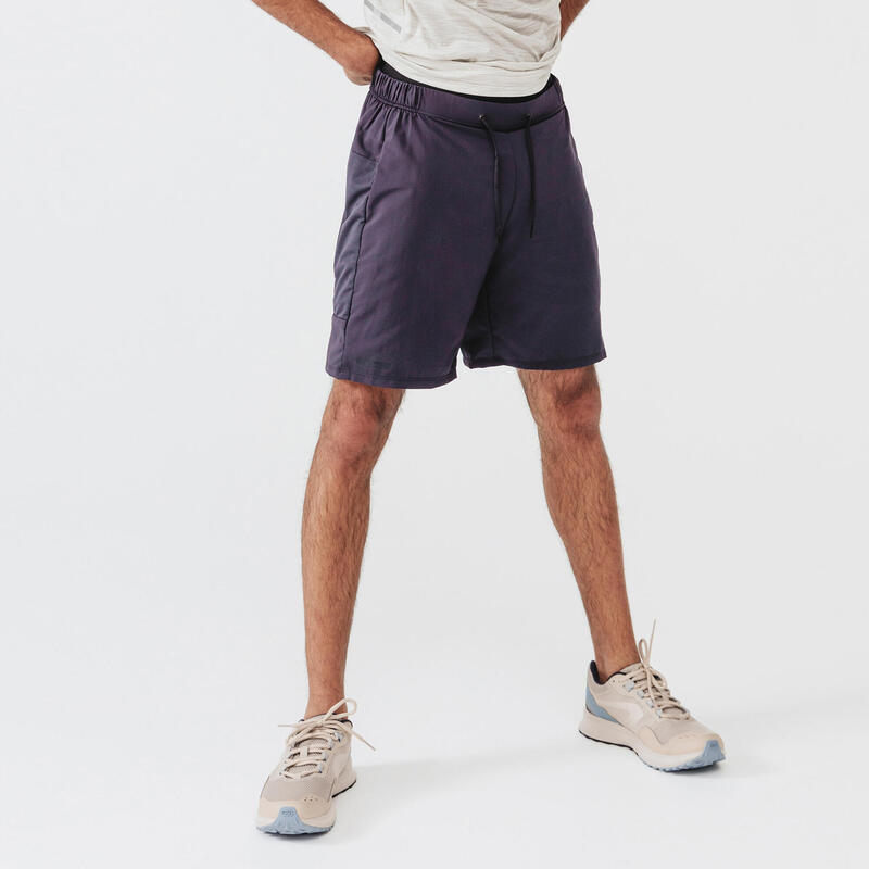 Pantaloncini running uomo RUN DRY+ grigi