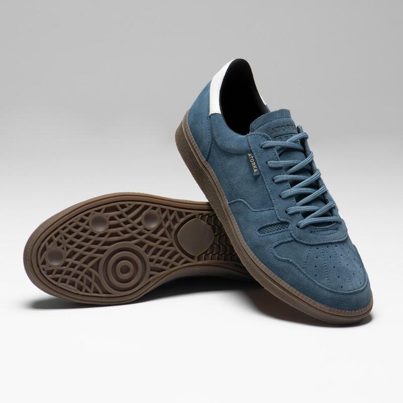 Zapatillas Portero Balonmano Atorka GK500 Adulto azul blanco