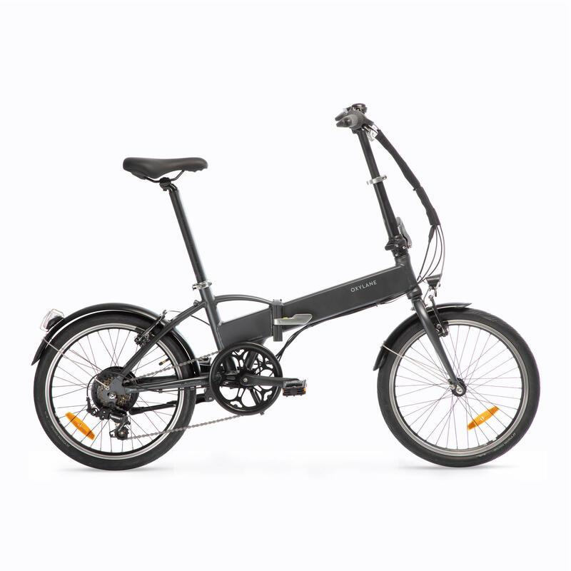 Electric Assisted Folding Bike Tilt 500 - Grey/Black