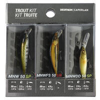 PLUG BAIT JERKBAIT MINNOW LURE FISHING TROUT KIT 3 PB