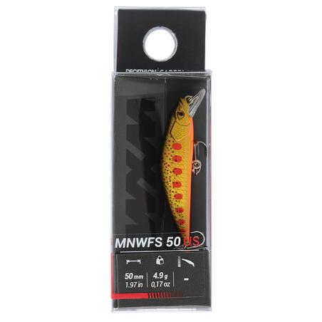 PLUG BAIT TROUT MINNOW LURE FISHING MNWFS 50 US YAMAME ORANGE