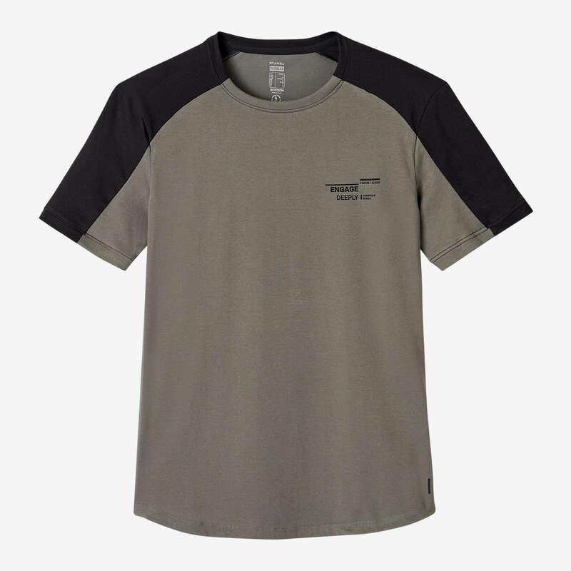 KLÄDER FÖR GYMNASTIK, PILATES, HERR Pilates - T-Shirt Regular 520 Herr kaki NYAMBA - Pilates