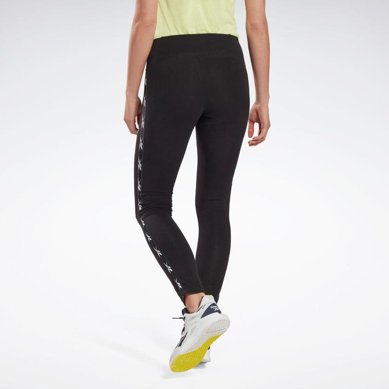 Legging fitness long coton majoritaire extensible femme - Tape Pack noir