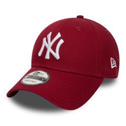Baseballpet voor volwassenen MLB New Era 9FORTY New York Yankees kardinaalrood