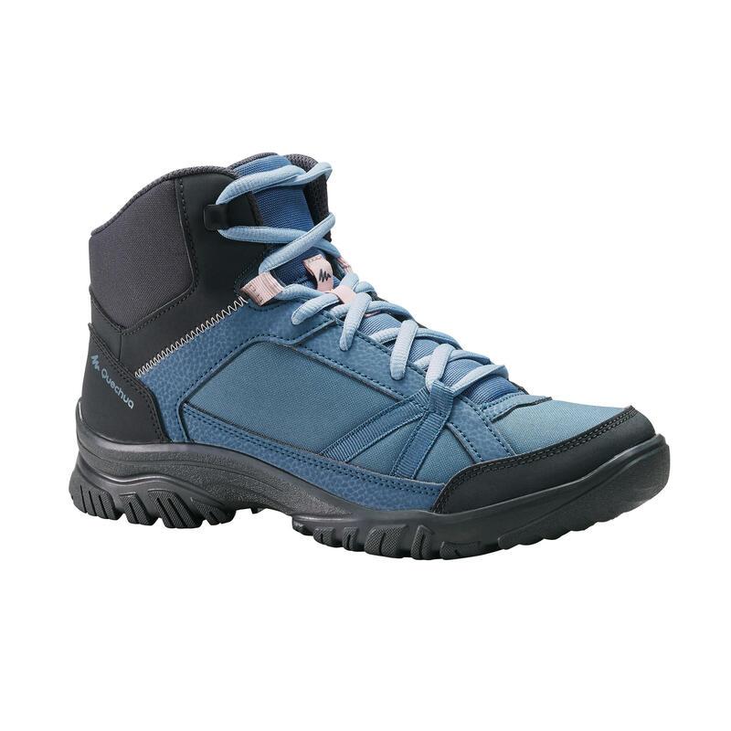 Wanderschuhe Naturwandern NH100 halbhoch Damen blau