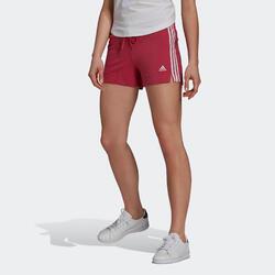 Fitnessshort 3 Stripes bordeaux